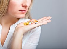 Free Depressed Woman With Pharmaceutical Royalty Free Stock Photography - 18822837
