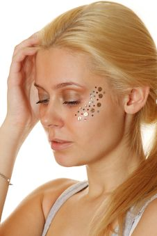 Free Beautiful Woman With Makeup And Sequins Stock Photos - 18822933