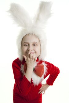 Free Сhild Bunny Costume. Royalty Free Stock Photography - 18823007