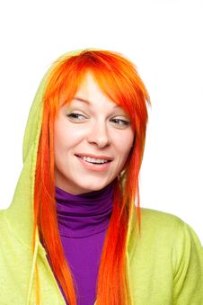 Free Curious Smiling Red Hair Woman Stock Images - 18824114