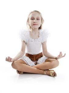 Free Girl Relaxing Meditating Stock Photos - 18824623