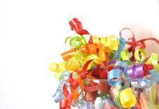 Free Colorful Ribbons Royalty Free Stock Photography - 18825227