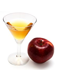 Free Red Apple With Glass Of Juice Stock Photo - 18826760