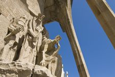 Free Passion Facade (part) Of Sagrada Familia Royalty Free Stock Photography - 18826807