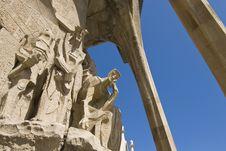 Free Passion Facade (part) Of Sagrada Familia Royalty Free Stock Photography - 18826807