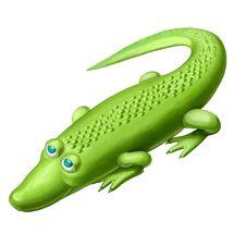 Free Green Crocodile Royalty Free Stock Photography - 18826967
