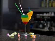 Free Glass With A Cocktail Stock Photography - 18828102