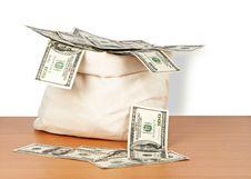 Free Money Bag Royalty Free Stock Photo - 18828305