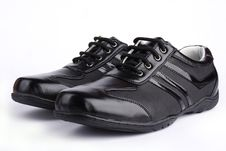 Leather Sport Shoe Royalty Free Stock Photography