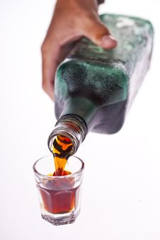 Free Pouring A Perfect Shot Stock Images - 18829004