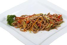 Buckwheat Pasta Royalty Free Stock Images