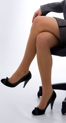 Free Legs Of Business Woman Royalty Free Stock Photos - 18829228