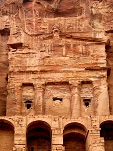 Free Urn Tomb In Petra Rock City. Jordan. Royalty Free Stock Image - 18829286
