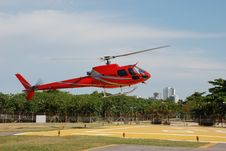 Free Red Helicopter Stock Photography - 18829412