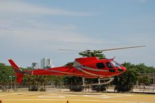Free Red Helicopter Stock Photography - 18829442