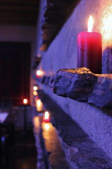 Free Candle On The Stone Stock Image - 18829741