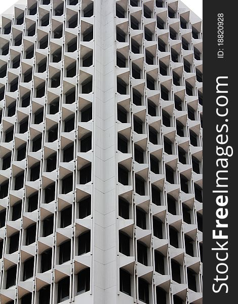 Skyscraper balconies and windows - abstract photo
