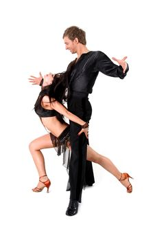 Free Latino Dancers In Action Stock Photography - 18830092