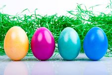Four Colored Easter Eggs V2 Royalty Free Stock Images