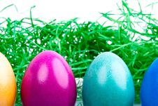 Free Four Colored Easter Eggs V3 Stock Photos - 18830103