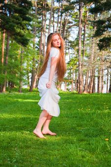 Free Girl In The Park Stock Image - 18830871