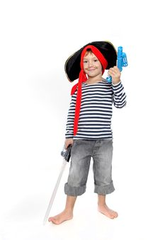 Free Young Boy Dressed As Pirate Royalty Free Stock Image - 18830996