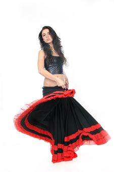 Free Young Attractive Woman Dancing Flamenco Royalty Free Stock Photos - 18831048