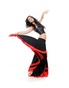 Free Young Attractive Woman Dancing Flamenco Royalty Free Stock Photo - 18831065