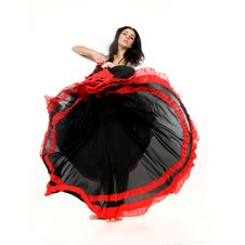 Free Young Attractive Woman Dancing Flamenco Royalty Free Stock Photo - 18831095
