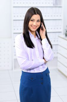 Free Businesswoman With Cell Phone Stock Images - 18831314