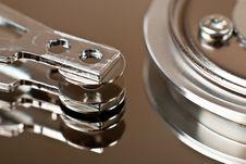 Close Up Of Hard Disk Drive Royalty Free Stock Photo