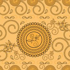 Paisley Pattern Seamless Stock Images