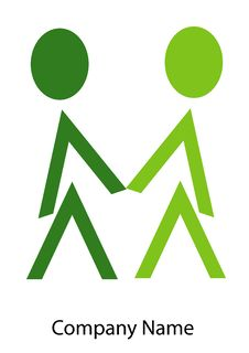 Free Love Couple Logo Stock Image - 18832211