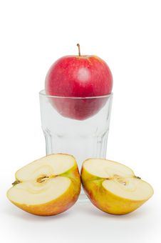 Free Apple In The Glass Stock Photography - 18832612