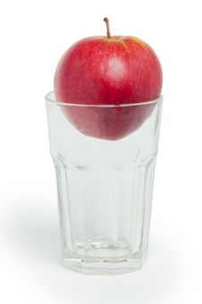 Free Apple In The Glass Stock Photos - 18832623