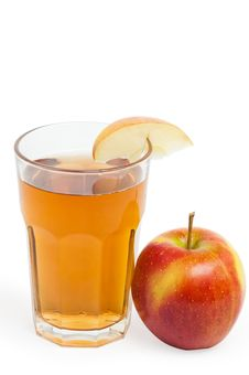 Apple Juice In The Glass Royalty Free Stock Photo