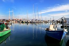 Yachts In The Bay Of Acre Royalty Free Stock Photos