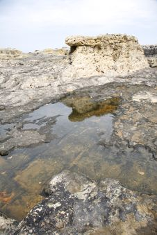 Free Great Puddle On Rock Royalty Free Stock Image - 18834286