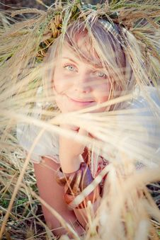 Free Young Woman On Wheat Field Stock Images - 18835044