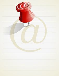 Free Pin Email Message Royalty Free Stock Photo - 18835835