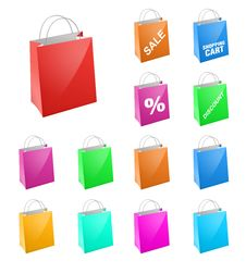 Colorful Shopping Bag Royalty Free Stock Images