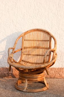 Free Closeup Single Wicker Chair Stock Photos - 18836173