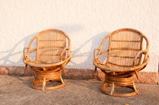 Free Closeup Wicker Chair Stock Photography - 18836252