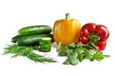 Cucumber Pepper Parsley Fennel Royalty Free Stock Photo