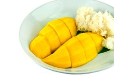 Free Thai Sticky Rice Eat With Mangoes Stock Photography - 18836372