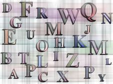 Alphabets Background Stock Photo