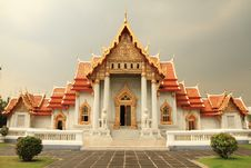 Free Marble Temple ,Bangkok,Thailand Royalty Free Stock Photos - 18836548