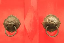 Free Oriental Door Knob Royalty Free Stock Photos - 18836638