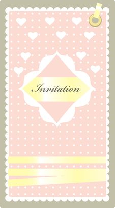 Free Invitation Pink Royalty Free Stock Photo - 18837665