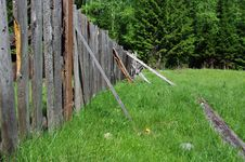 Wood Proped Up Fence Royalty Free Stock Photos